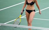 Jennifer Love Hewitt Plays Tennis