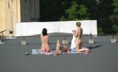 Rooftop Sunbathers