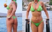 Beach volleyball wedgie bikini