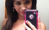 Tiny Tit Selfie Brunette