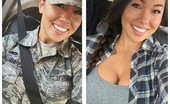 Hot Air Force Selfies Erin