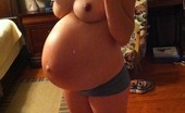Sexy Pregnant Hard Nips Huge Belly