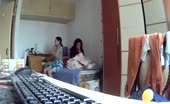 2 Asian Girls in Dorm Hiddencam